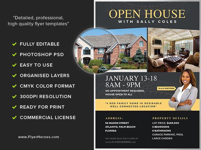 Open House Flyer Templates Elegant Open House Flyer Template 2 Flyerheroes