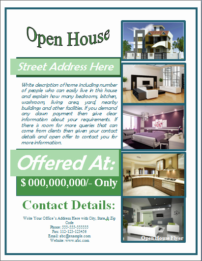 Open House Flyer Templates Fresh Sample Open House Flyer Template