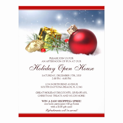 Open House Flyer Templates Inspirational Festive Holiday Open House Flyer Template