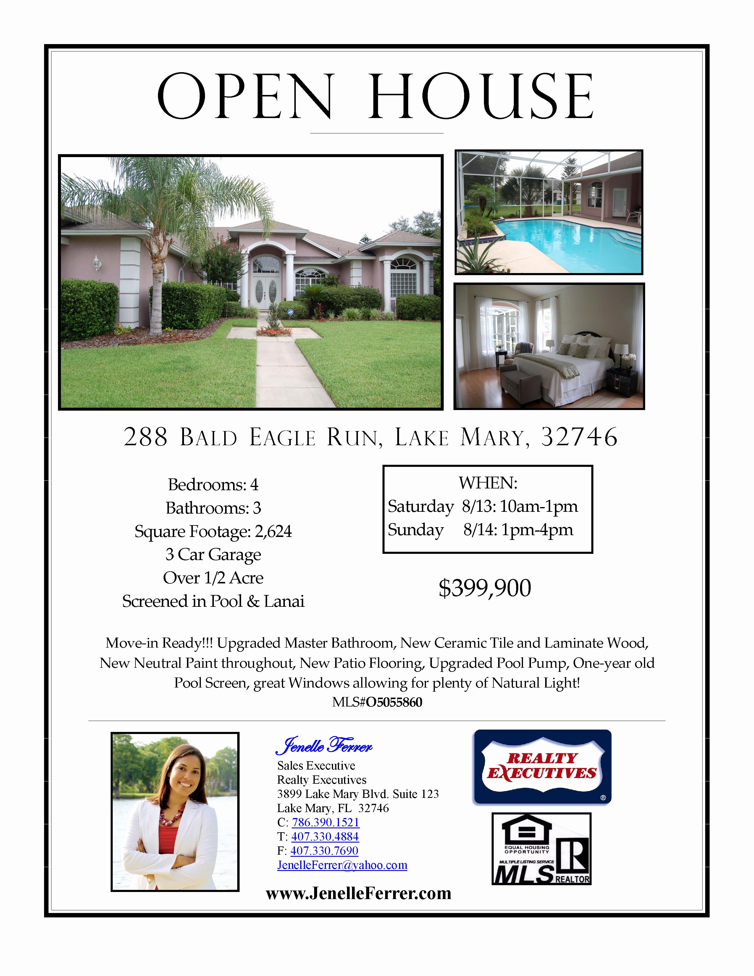 Open House Flyer Templates Luxury Your Central Florida Realtor