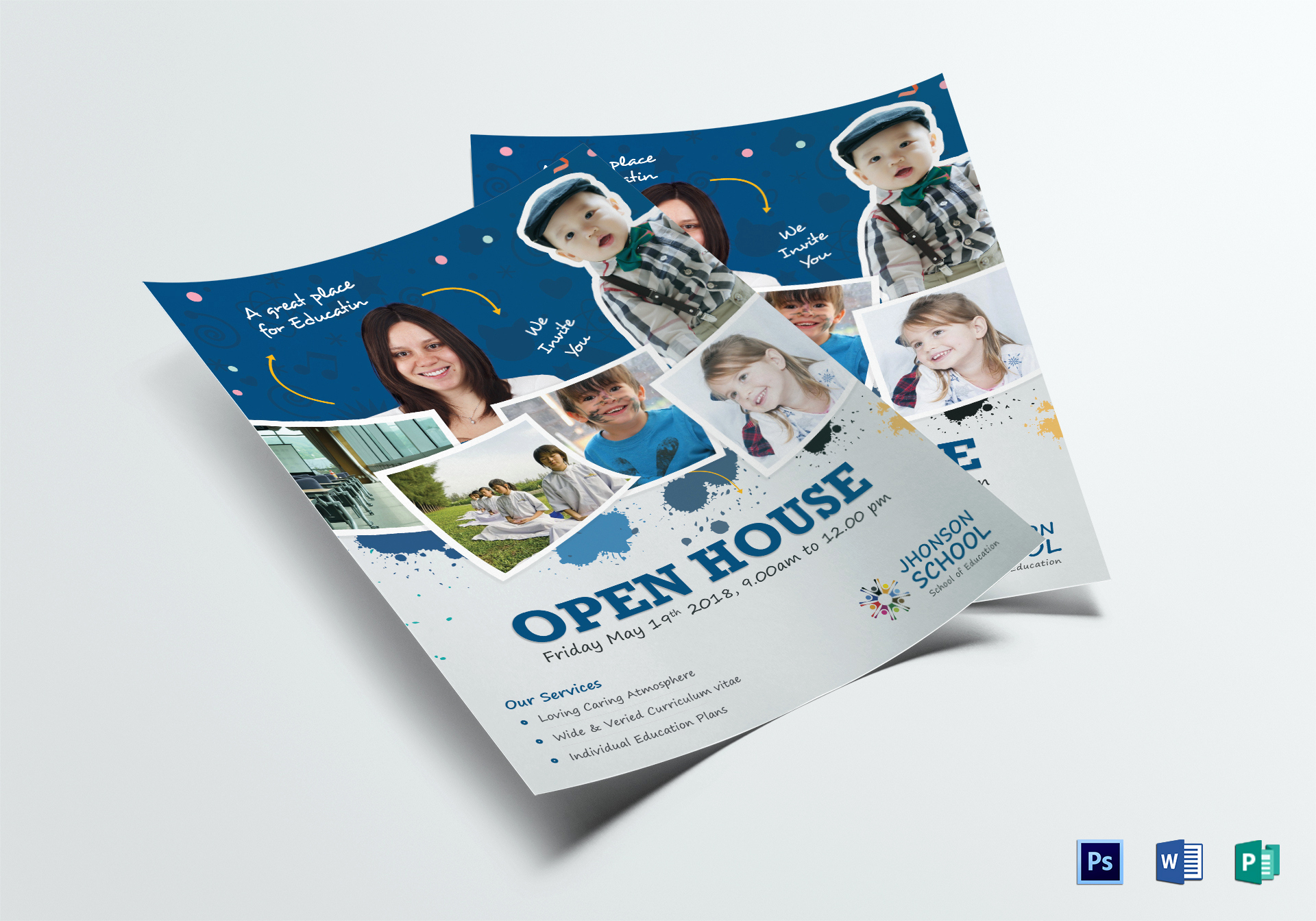 Open House Flyer Templates Unique Kids Open House Flyer Design Template In Psd Word Publisher