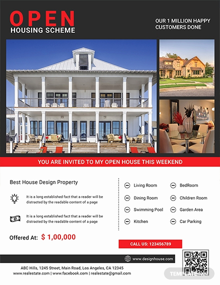 Open House Flyers Template Awesome 29 Free Real Estate Flyer Templates