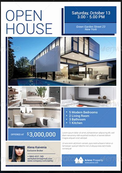 Open House Flyers Template Awesome 34 Best Open House Flyer Ideas Images On Pinterest