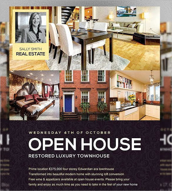 Open House Flyers Template Awesome Open House Flyer Templates Word Excel Samples