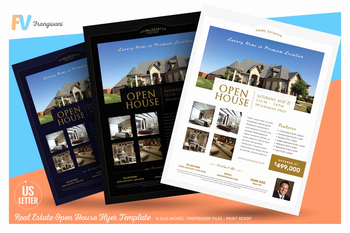 Open House Flyers Template Beautiful Real Estate Open House Flyer Flyer Templates Creative