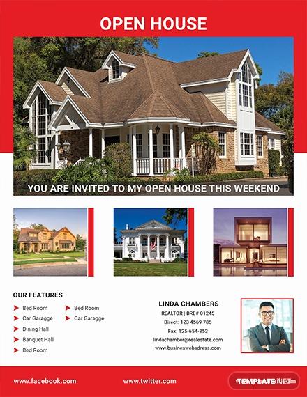 Open House Flyers Template Best Of Free Broker Open House Flyer Template Download 640