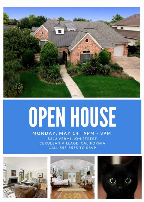 Open House Flyers Template Fresh Free Open House Flyer Template – Downloadable
