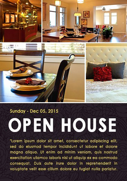 Open House Flyers Template Inspirational 34 Best Images About Open House Flyer Ideas On Pinterest