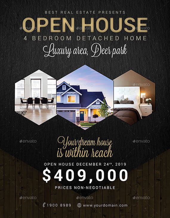 Open House Flyers Template New 6 Best Realtor Open House Flyers to attract Potential Buyers