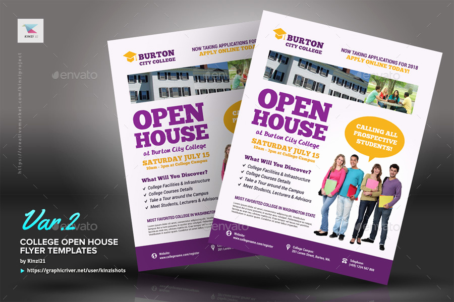 Open House Flyers Template Unique College Open House Flyer Templates by Kinzishots