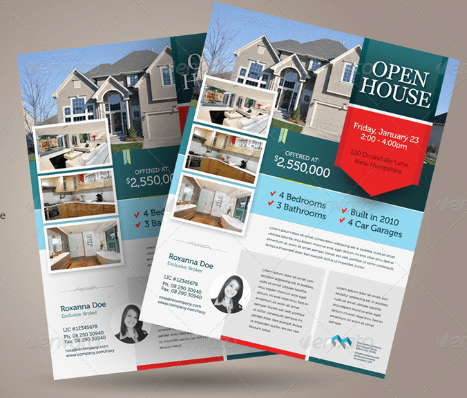 Open House Flyers Templates Awesome Free Open House Flyer Template – Downloadable