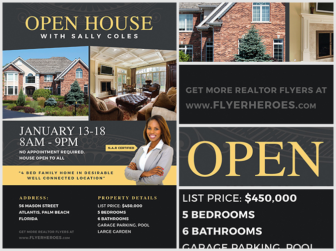 Open House Flyers Templates Awesome Open House Flyer Template 2 Flyerheroes