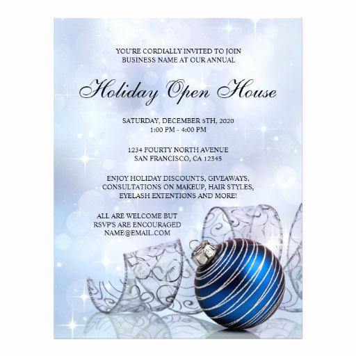 Open House Flyers Templates Best Of Festive Business Holiday Open House Flyer Template