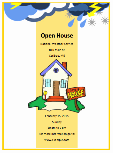 Open House Flyers Templates Inspirational Open House Flyer Template Free Flyer Templates