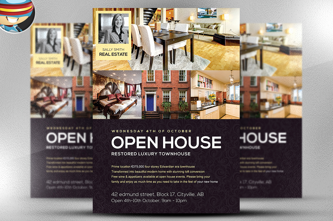 Open House Flyers Templates Lovely Open House Flyer Template Flyer Templates On Creative Market