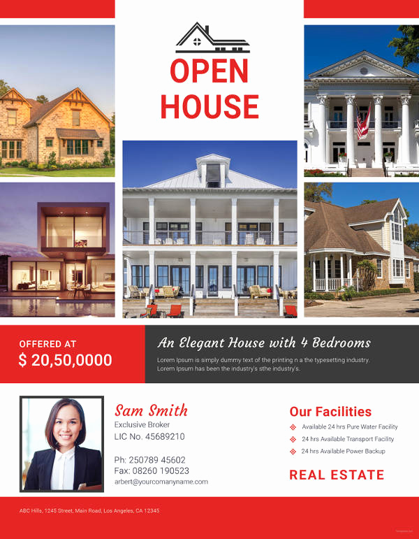Open House Flyers Templates Lovely Open House Flyer Templates – 39 Free Psd format Download