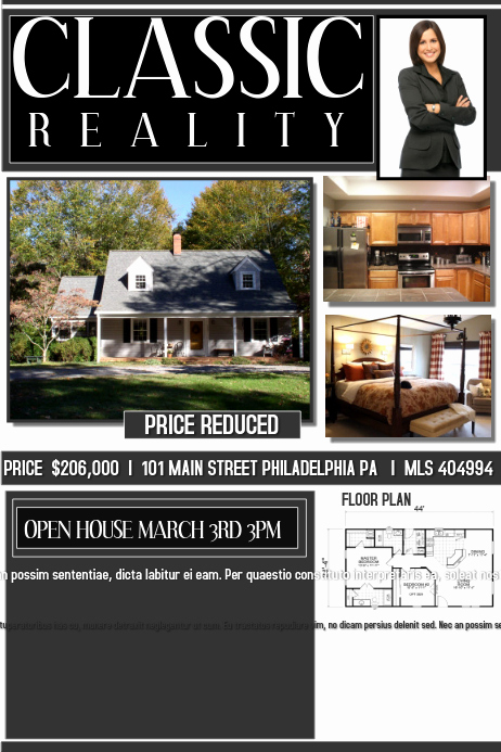 Open House Flyers Templates Luxury Open House Real Estate Template
