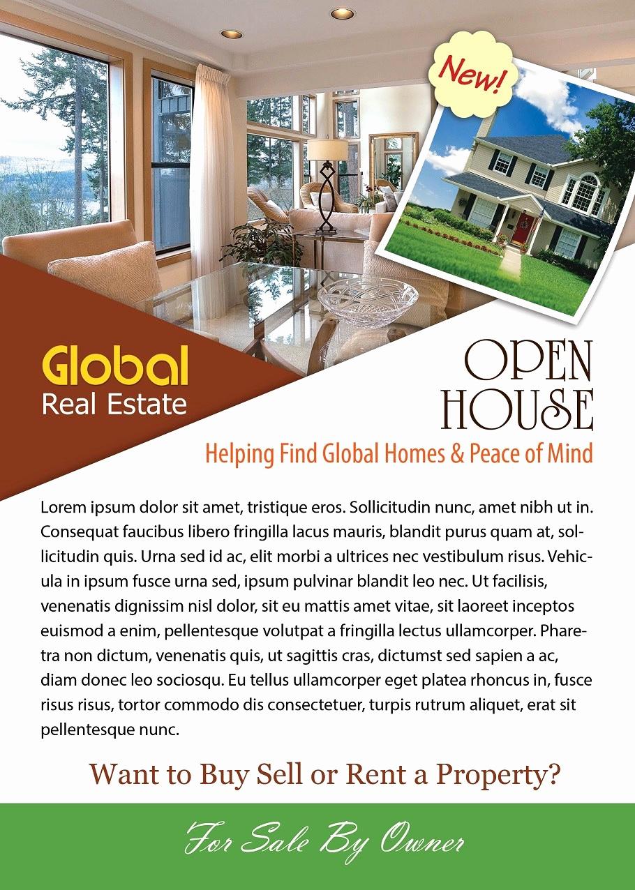 Open House Flyers Templates Unique Open House Flyer Template Shop Version Free Flyer