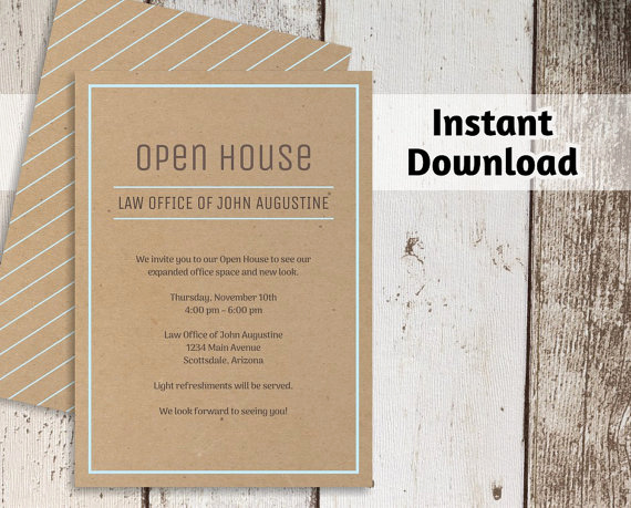 Open House Invitation Template Beautiful Printable Business Invitation Template Open House Business