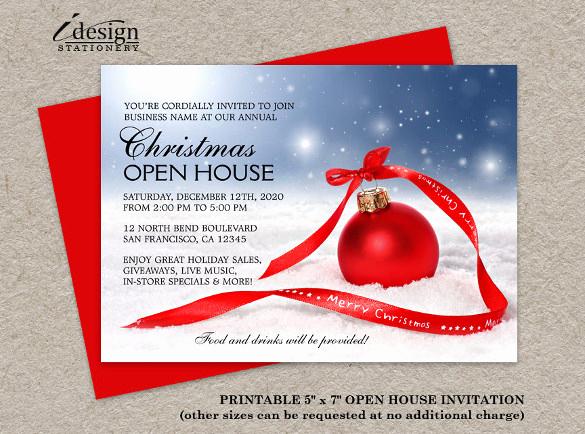 Open House Invitation Template Elegant 23 Business Invitation Templates – Free Sample Example