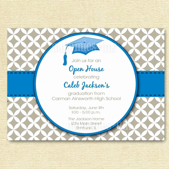 Open House Invitation Template Elegant Items Similar to Graduation Invitation Open House