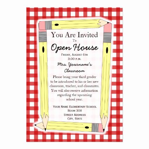 Open House Invitation Template Fresh Personalized orientation Invitations