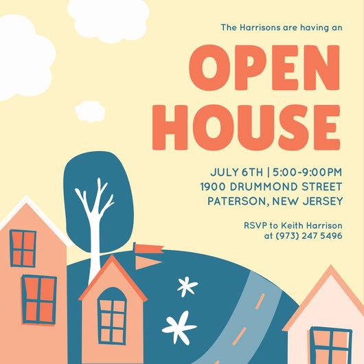 Open House Invitation Template New Open House Invitation Templates Canva