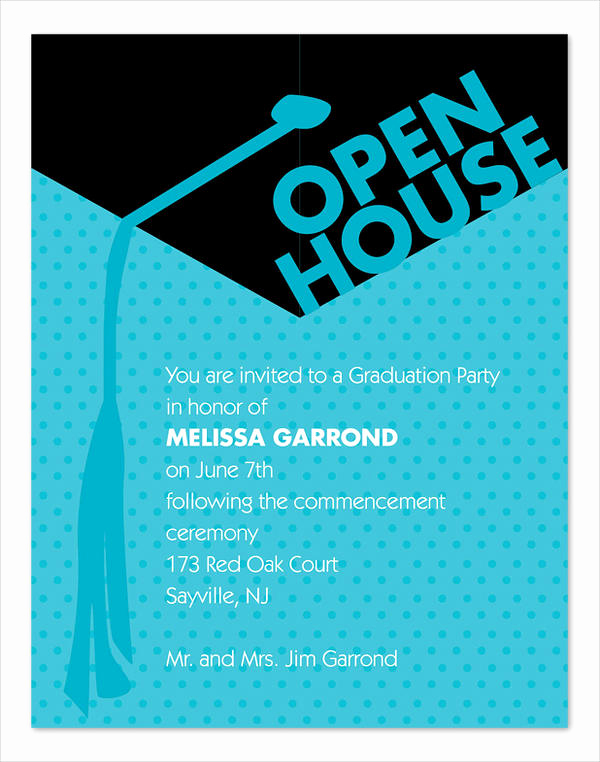 Open House Invitation Template Unique 49 Graduation Invitation Designs & Templates Psd Ai