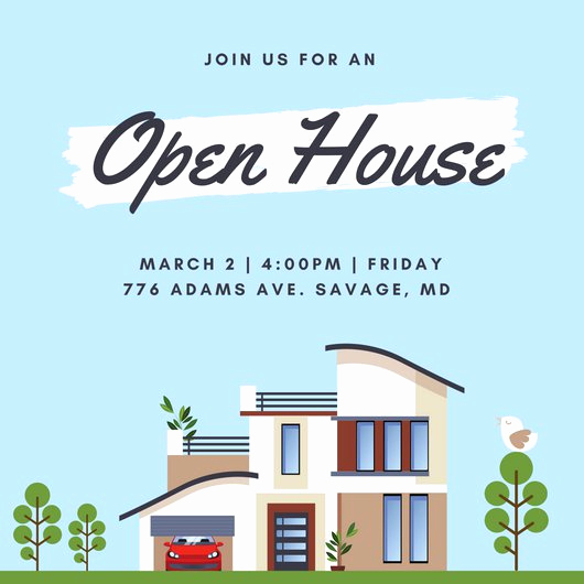 Open House Invite Template Awesome Customize 498 Open House Invitation Templates Online Canva