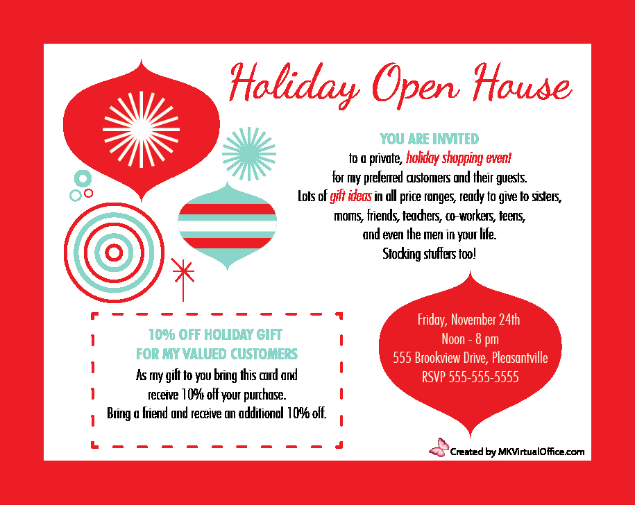 Open House Invite Template Awesome Mary Kay Holiday Invitations Google Search