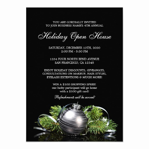 Open House Invite Template Best Of Corporate Holiday Open House Invitations Template