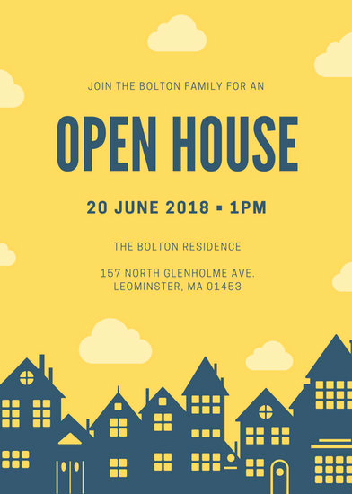 Open House Invite Template Inspirational Customize 127 Open House Invitation Templates Online Canva