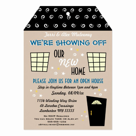 Open House Invite Template Inspirational Whimsical Tag Cut Open House Invitation