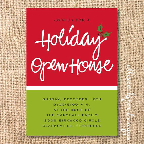 Open House Invite Template Lovely Holiday Open House Printable Invitation