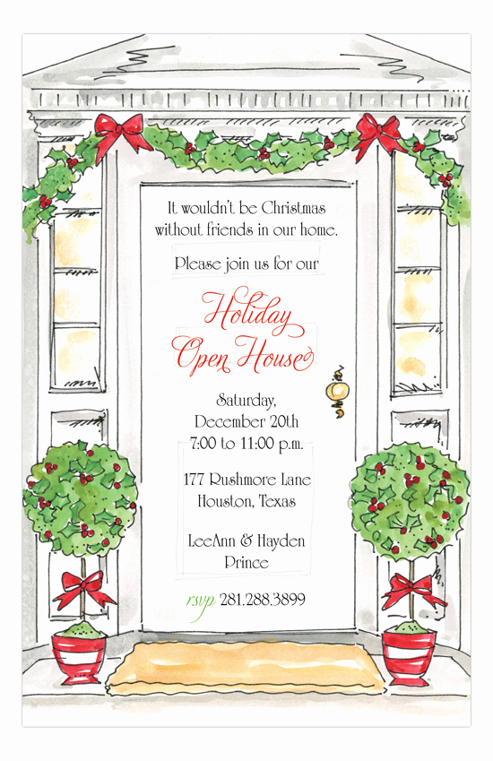Open House Invite Template Unique Holiday Open House Invitations