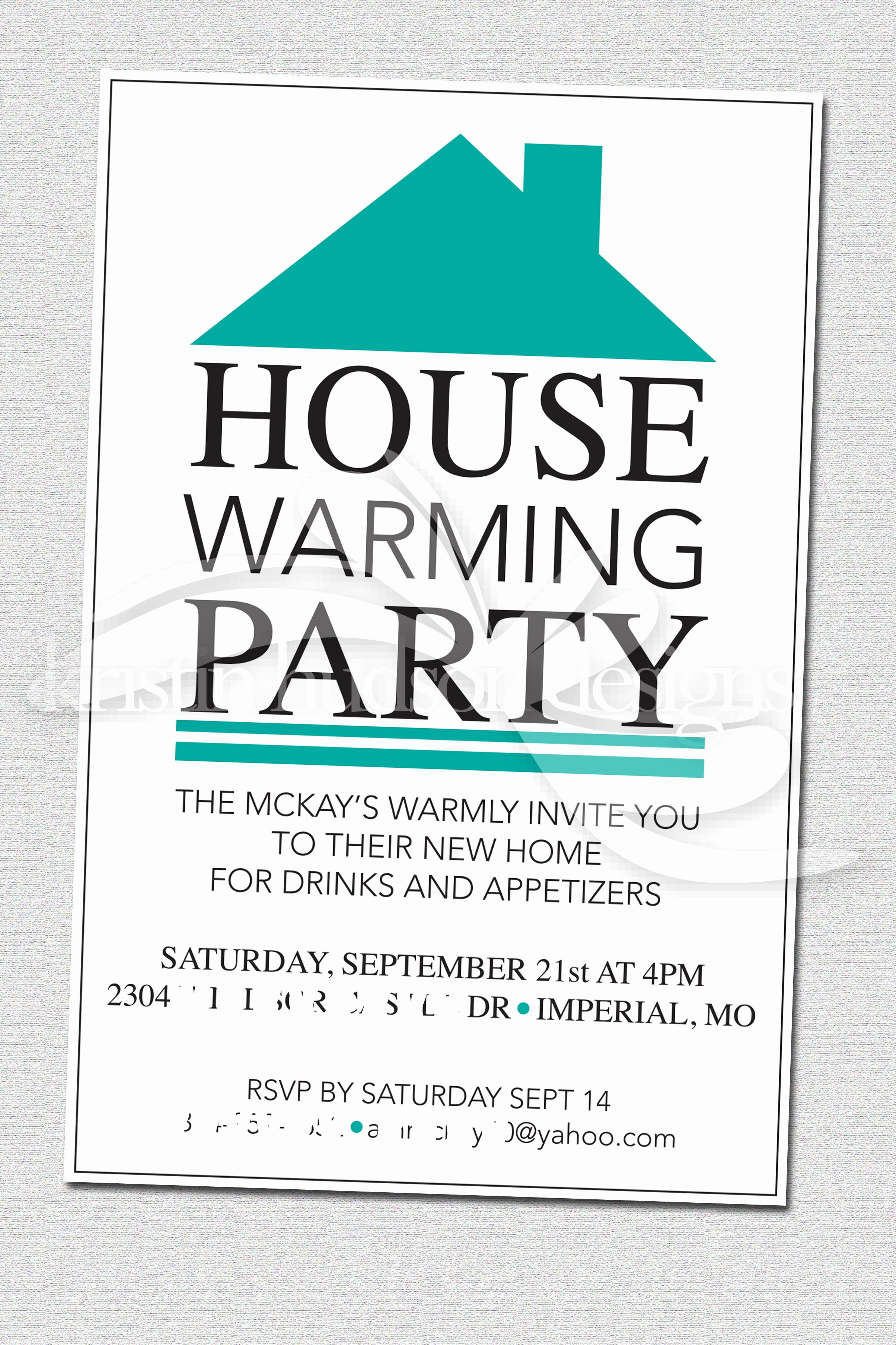 Open House Invite Templates Elegant House Warming Party Invite