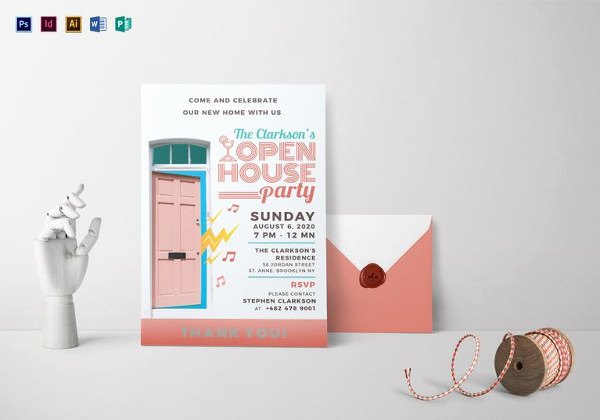 Open House Invite Templates Fresh 22 Open House Invitation Templates – Free Sample Example