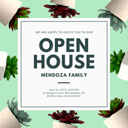 Open House Invite Templates Inspirational Open House Invitation Templates Canva
