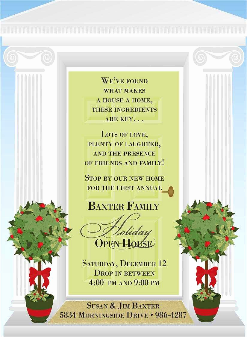 Open House Invite Templates New Christmas Open House Invitations
