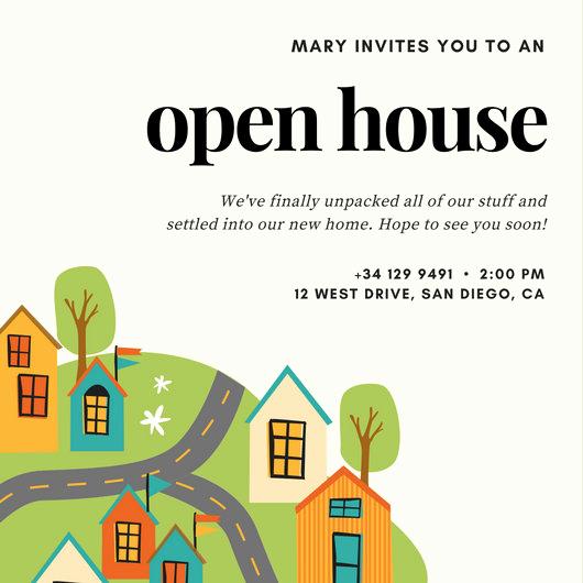 Open House Invite Templates Unique Open House Invitation Templates Canva