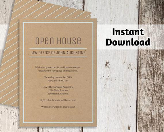 Open House Invite Templates Unique Printable Business Invitation Template Open House Business