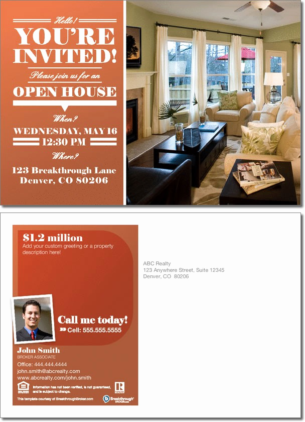 Open House Invites Wording Luxury Open House Invitation Postcard