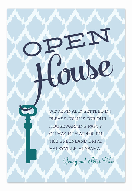 Open House Invites Wording Unique Open House Key Party Invitations by Invitation