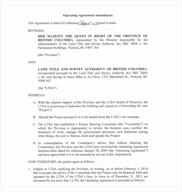 Operating Agreement Template Word Best Of Operating Agreement Template 10 Free Word Pdf Document