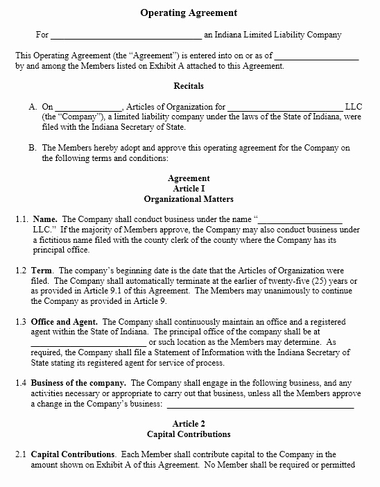 Operating Agreement Template Word Elegant 13 Free Sample Operating Agreement Templates Printable