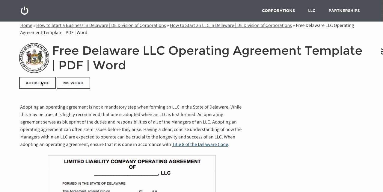 Operating Agreement Template Word Lovely Free Delaware Llc Operating Agreement Template