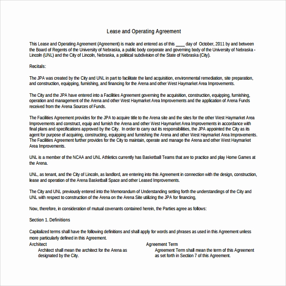 Operating Agreement Template Word Luxury 10 Sample Operating Agreements – Pdf Word