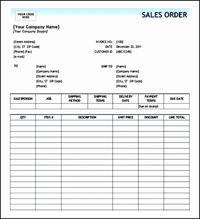 Order form Template Excel Lovely order form Template Excel Sample order Templates