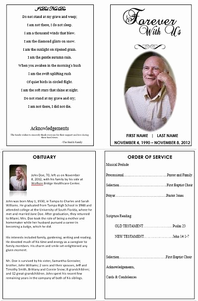 Order Of Service for Funeral Awesome 1000 Images About Printable Funeral Program Templates On