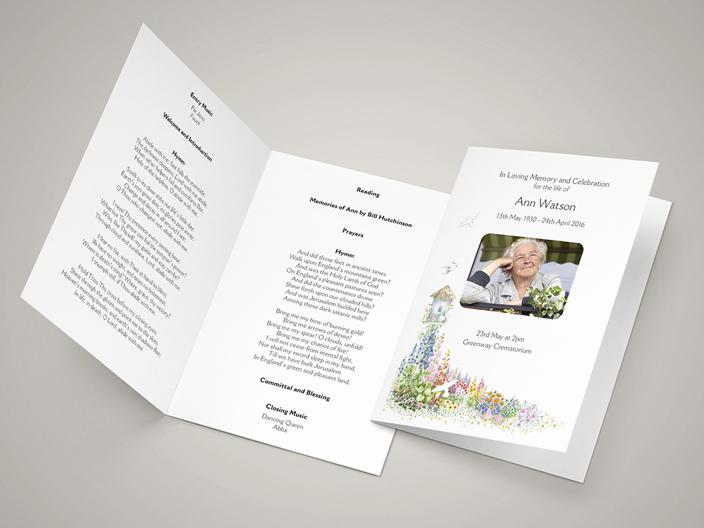 Order Of Service for Funeral Awesome Funeral order Of Service Templates and Printing Next Day